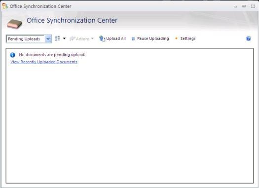 Office 2010 Sync Center